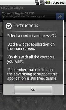Easy Call Widget poster