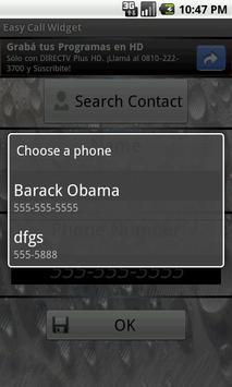 Easy Call Widget apk screenshot