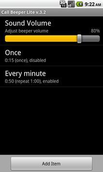 Call Beeper Lite apk screenshot
