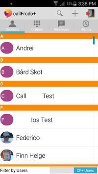 callFrodo+ Beta HD Video calls apk screenshot