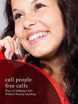 Call People Free Calls Guide poster