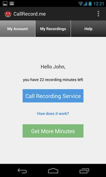 CallRecordMe HD Call Recording apk screenshot