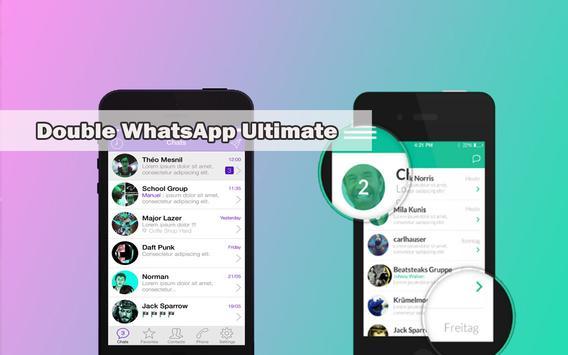 Double whatsapp™ messenger poster