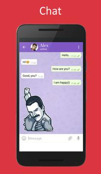 Messenger chat hot or not talk poster