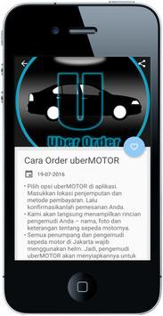 Panduan Uber Car apk screenshot