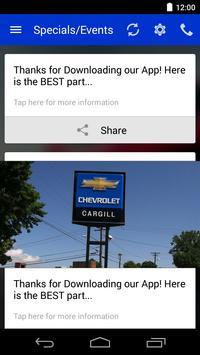 Cargill Chevrolet DealerApp apk screenshot