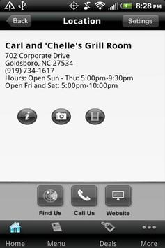 Carl & 'Chelle's Grill Room apk screenshot