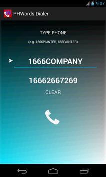 PhoneWords Dialer apk screenshot