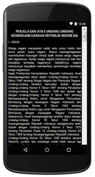 UU KEWARGANEGARAAN RI apk screenshot