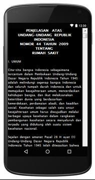 UU RUMAH SAKIT NO. 44 TH 2009 apk screenshot
