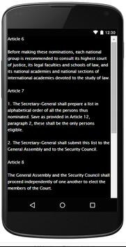 INTERNATIONAL COURT OF JUSTICE apk screenshot