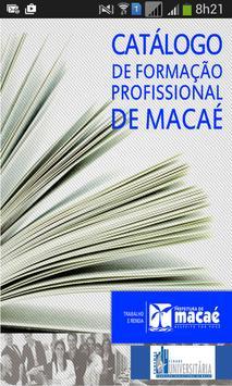 Catálogo Form. Profi. de Macaé poster