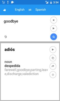 Spanish English Translate apk screenshot