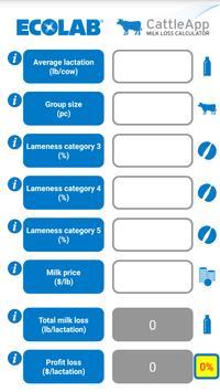 CattleApp Milk Loss Calculator apk screenshot