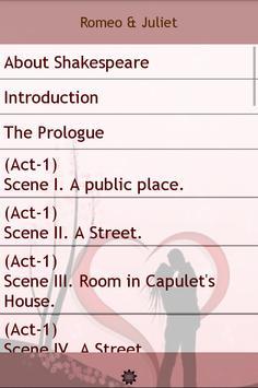 Romeo Juliet apk screenshot