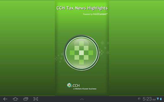 CCH Tax News Highlights poster