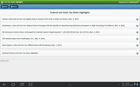 CCH Tax News Highlights apk screenshot