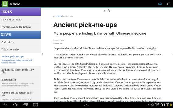 CCI eNews apk screenshot