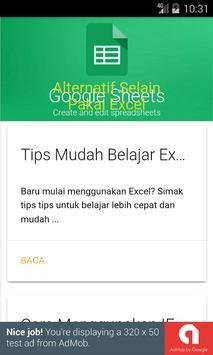 Belajar Excel apk screenshot