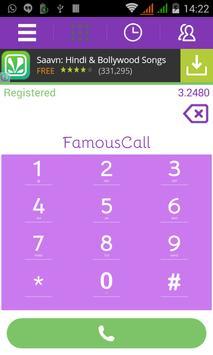 FamousCall apk screenshot