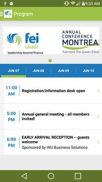 FEI Canada Annual Conference apk screenshot