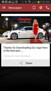 Champion Porsche DealerApp apk screenshot