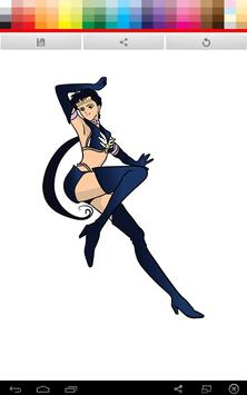 Moon Sailor Coloring poster