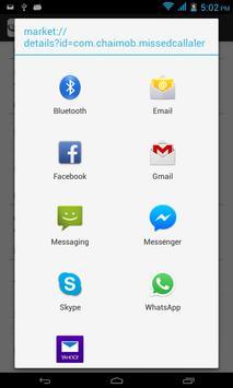 Missed Call Email Alert apk screenshot