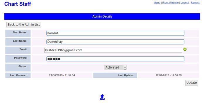 Chart Staff - Console Access apk screenshot
