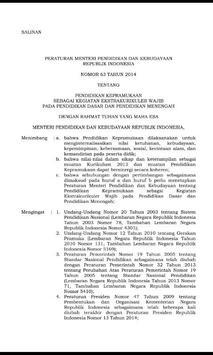 Permen 63 Tahun 2014 Pramuka apk screenshot
