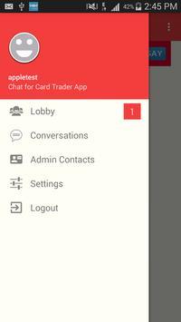 Chat for Card Trader App apk screenshot