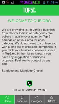 Top5 Org in India apk screenshot