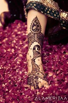Girls Foot Feet Mehndi Designs poster