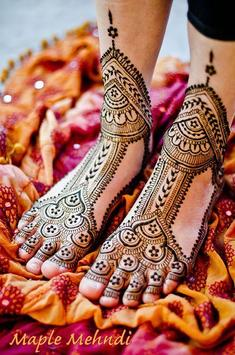 Girls Foot Feet Mehndi Designs apk screenshot