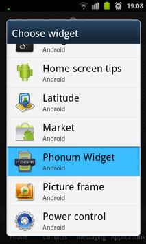 Phonum Widget poster