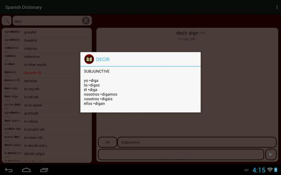 Spanish Dictionary apk screenshot