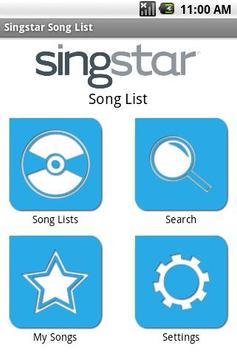 SingStar Song List poster