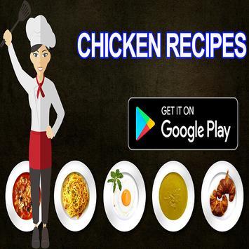 chicken recipes ebook poster