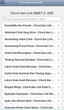 Chord dan Lirik Lagu Ebiet apk screenshot