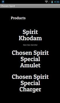 Chosen Spirit apk screenshot