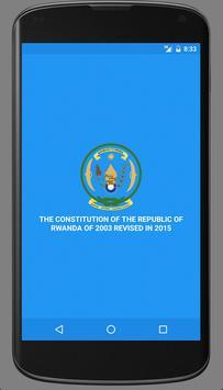 The Constitution of Rwanda poster
