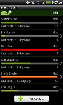 StayInTouch SMS, Call Reminder apk screenshot