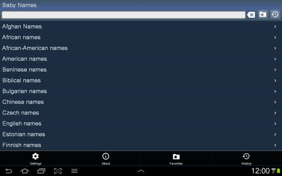 Baby Names free apk screenshot