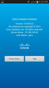 Cisco Instant Connect 4.7(1) apk screenshot