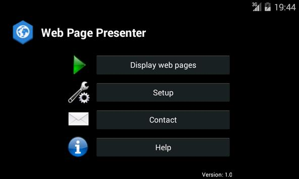 Web Page Presenter poster