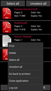 Cirrato Mobile Print apk screenshot