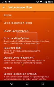 Voice Answer Free apk screenshot