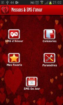Messages et SMS d'amour poster