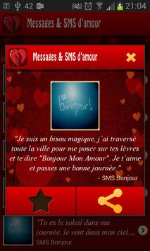 Messages et SMS d'amour apk screenshot