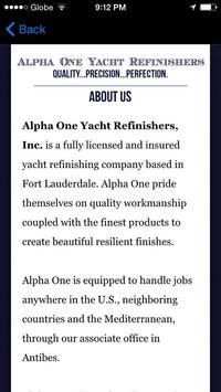 Alpha One Yacht Refinishers apk screenshot